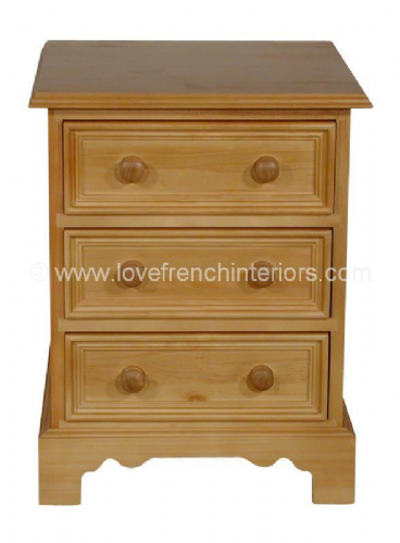 Juline Bespoke 3 Drawer Bedside 'B'